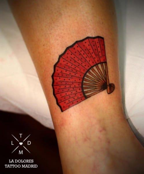 Fan Tattoo by La Dolores Tattoo