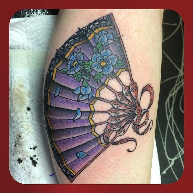 Fan Tattoo by Taran Staveley