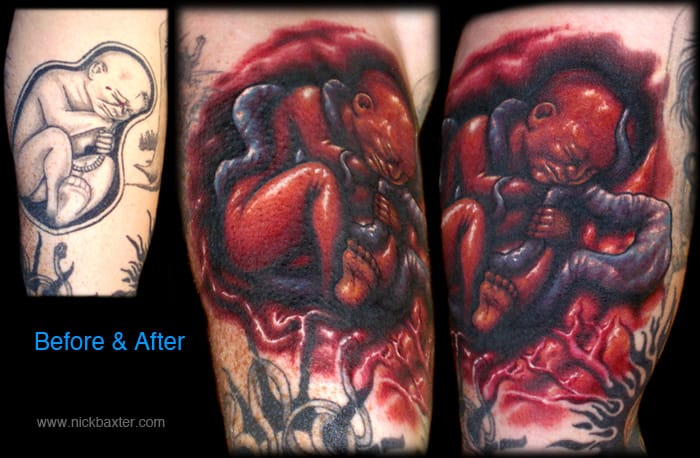 Awesome tattoo enhancement by Nick Baxter