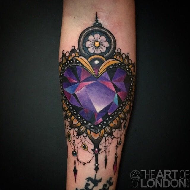 Lovely Amethyst Crystal pendant by @London Reese, Vatican Studios (Lake Forest, CA)