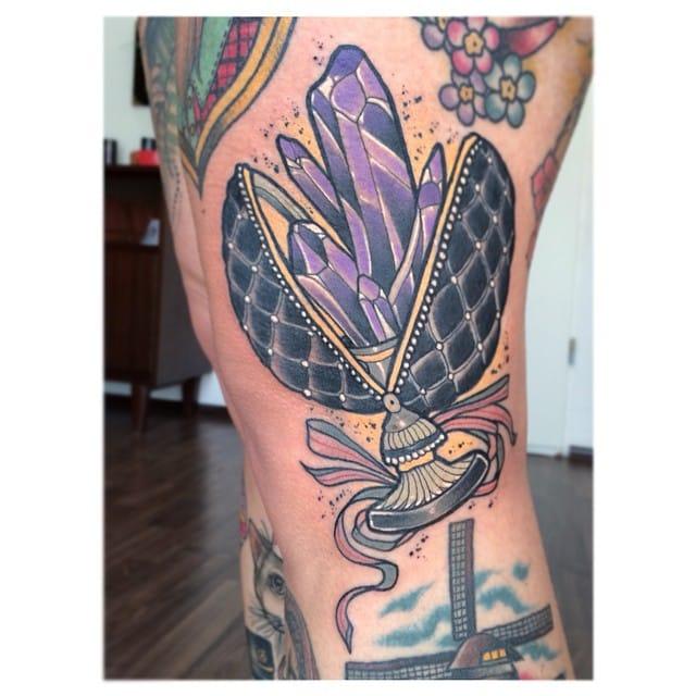 Delightful Amethyst Crystal Tattoo by @Ninmessara
