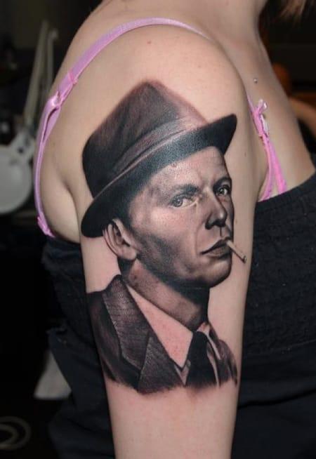 Frank Sinatra Tattoo by Aurora Lancaster