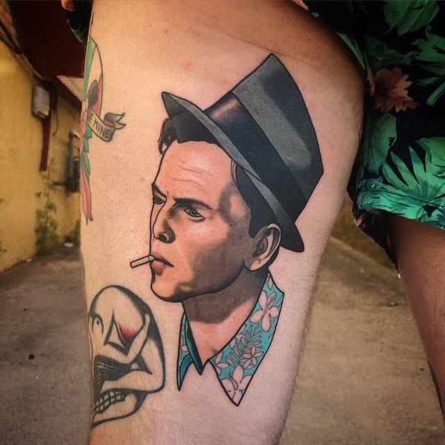Frank Sinatra Tattoo by Brad Dozier