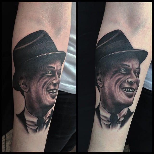 Frank Sinatra Tattoo by Ginger Tom Tattoo