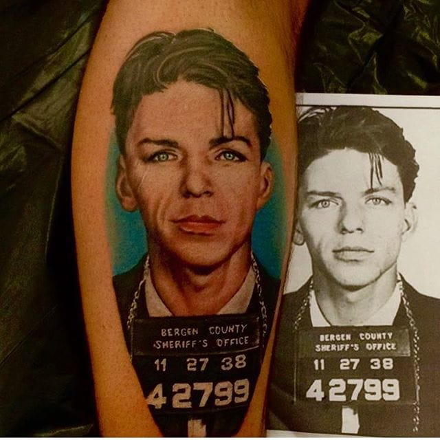 Young Frank Sinatra Tattoo by Mike Russo