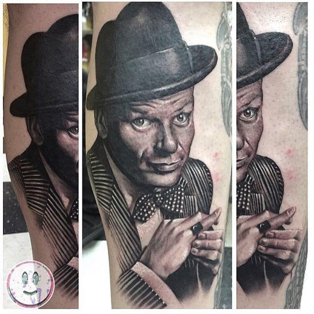 Frank Sinatra Tattoo by Joseph Cabello