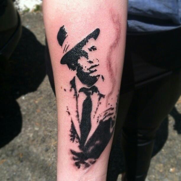 Frank Sinatra Tattoo by Ms. Retro Dixie