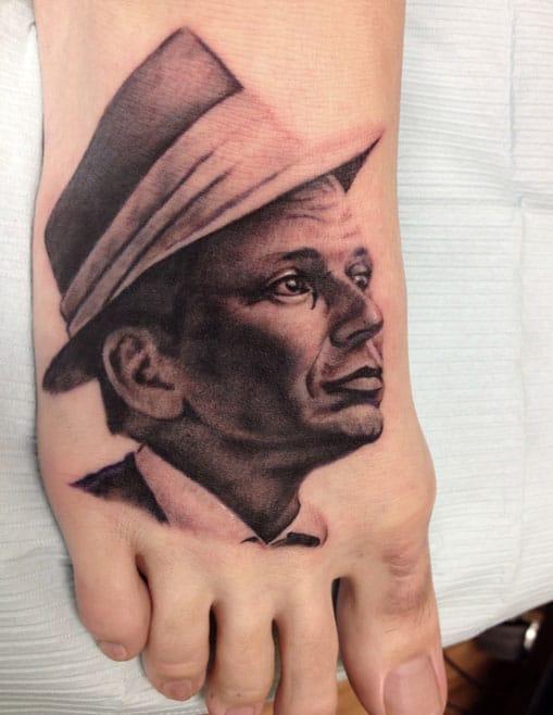 Frank Sinatra Tattoo by Steve Kelly