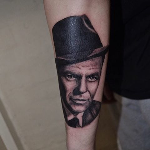 Frank Sinatra Tattoo by Tim Evans