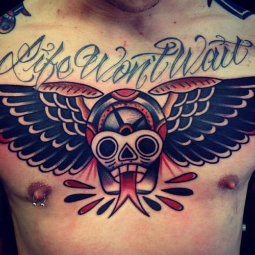 Solid chest piece by Dani Queipo