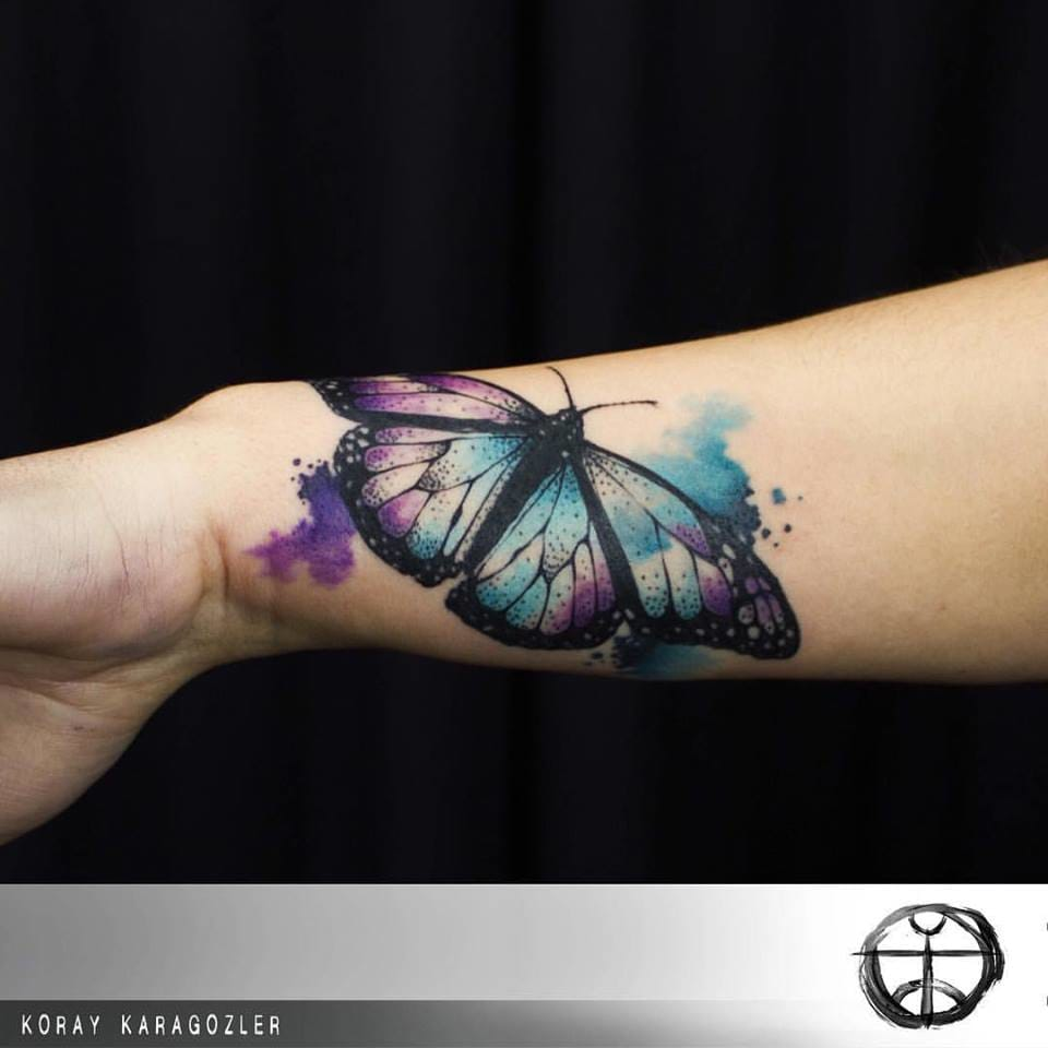 Energetic Watercolor Tattoos By Koray Karagözler