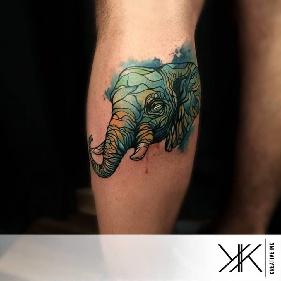 Elephant Tattoo by Koray Karagözler