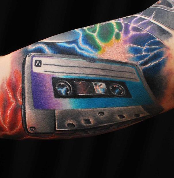 8 Fun Cassette Tape Tattoos