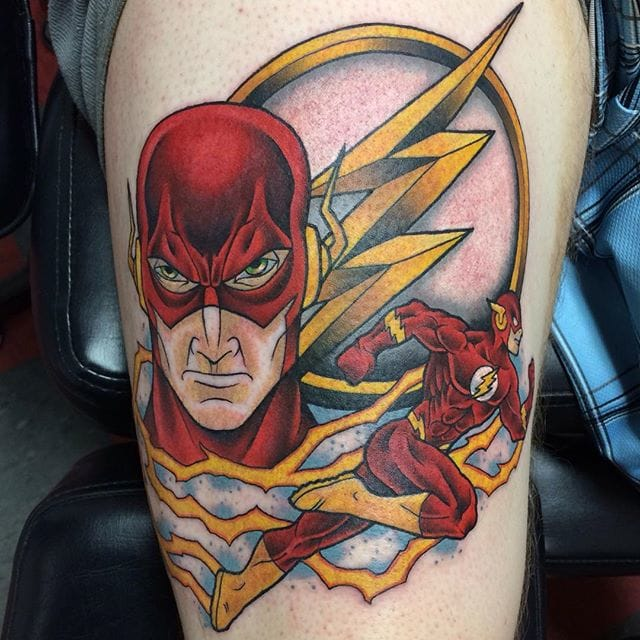 10 heroic tattoos of the flash tattoodo. Black Bedroom Furniture Sets. Home Design Ideas