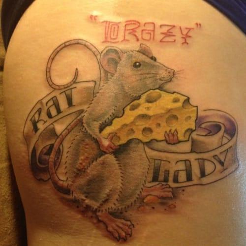 I've heard of a crazy cat lady....but now a rat lady?