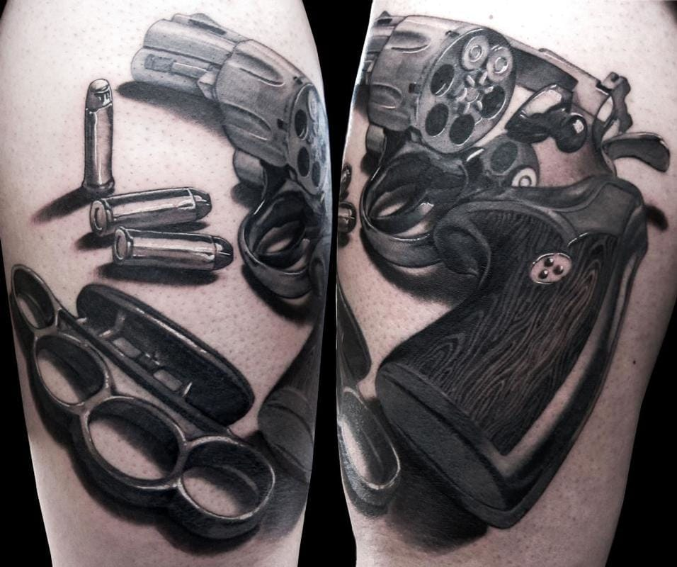 8 Awesome Revolver Tattoos