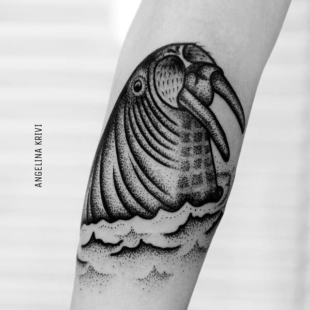 Walrus Tattoo by Angelina Krivi