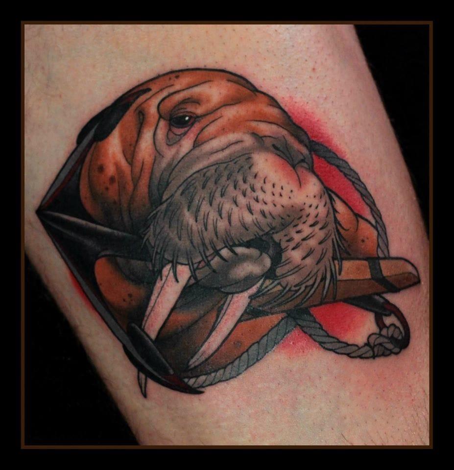Walrus Tattoo by Daniel Gensch
