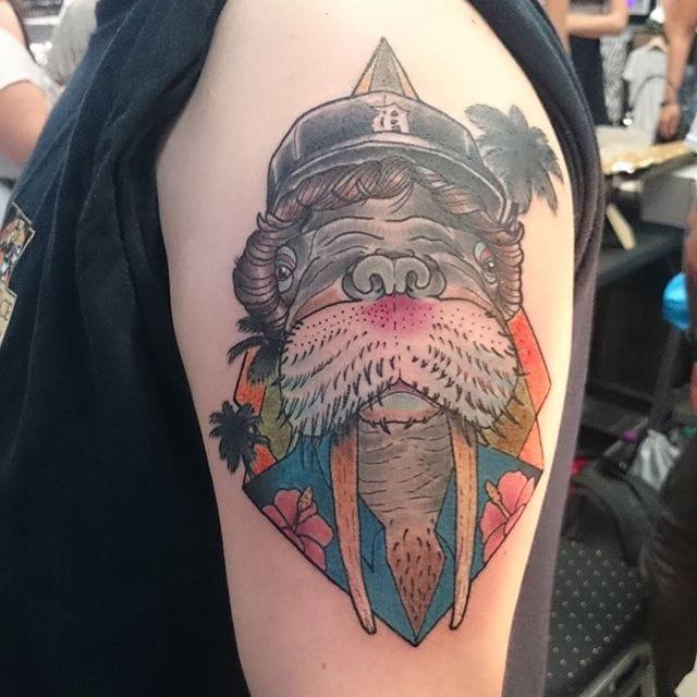 Walrus Tattoo by Kilian Poten