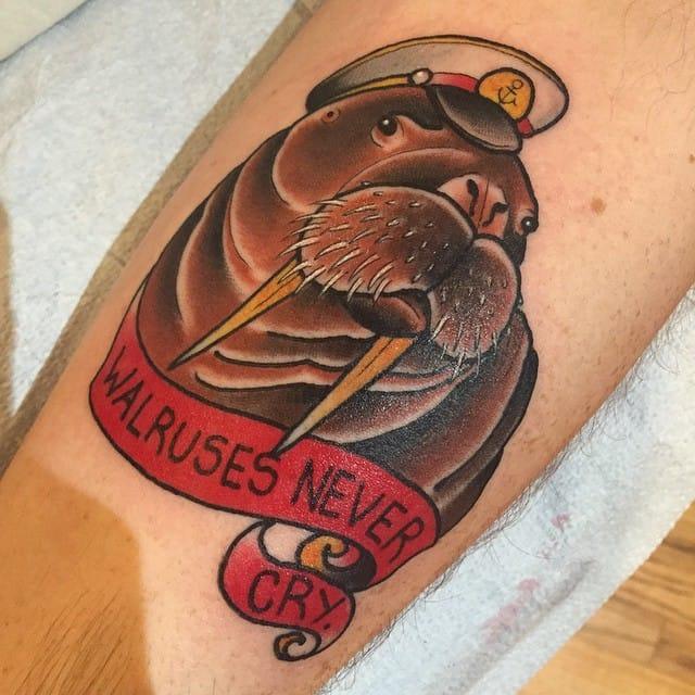 Walrus Tattoo by Torie Wartooth
