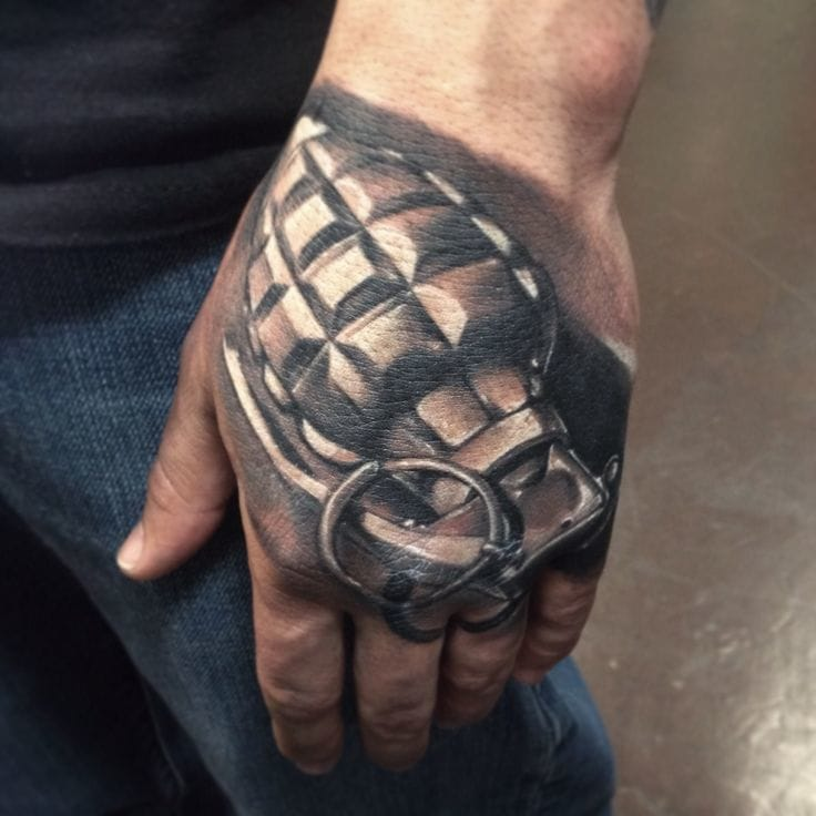 8 Amazing Grenade Tattoos