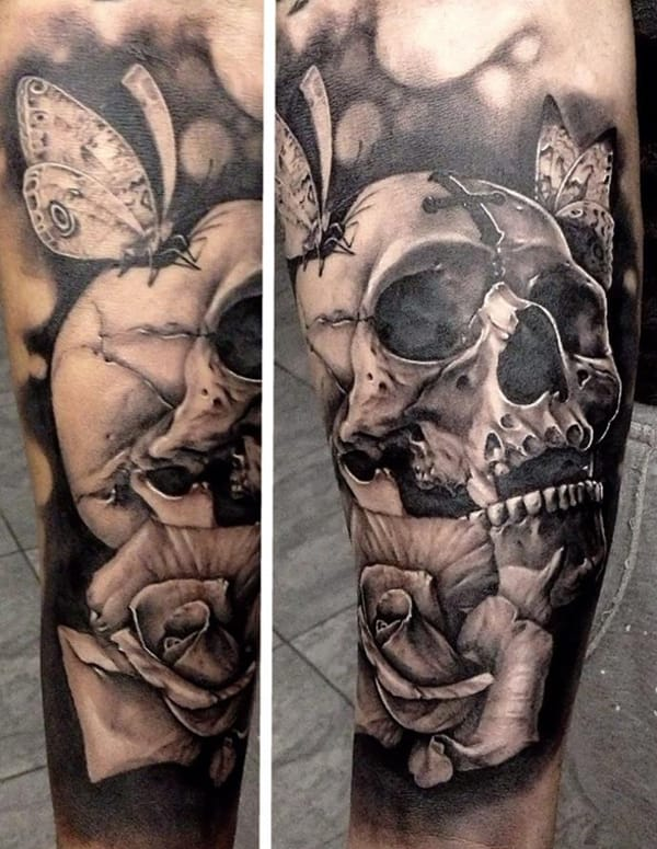 Awesome skull tattoo.