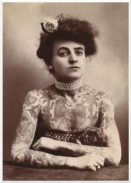 Nora Hildebrandt's fame was short lived and soon other tattooed ladies began to rob her spotlight...