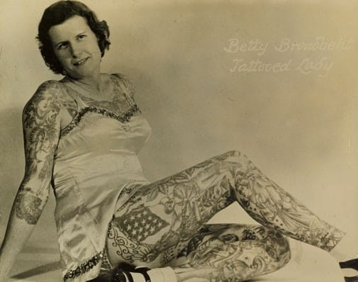 Betty Broadbent The tattooed beauty in all her glory
