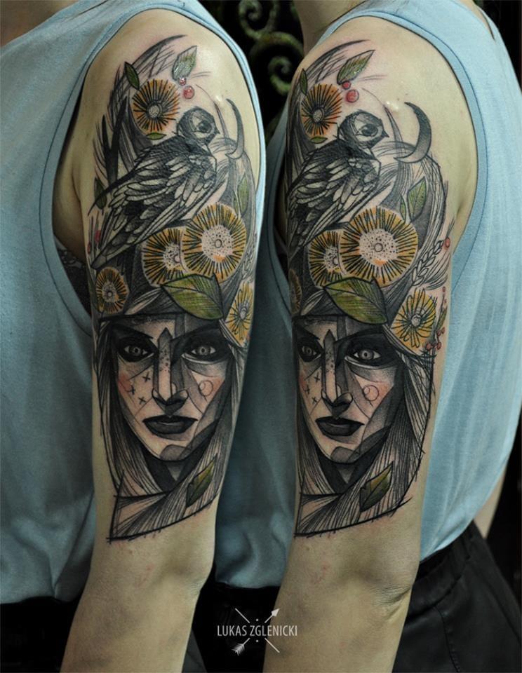 12 Stunning Sketch Style Tattoos By Lukas Zglenicki