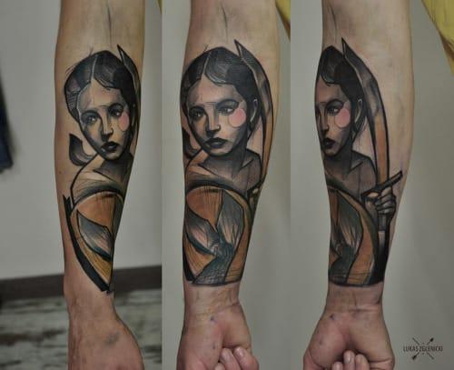 Lukas Zglenicki works at Cykada Tattoo in Sopot, Poland.