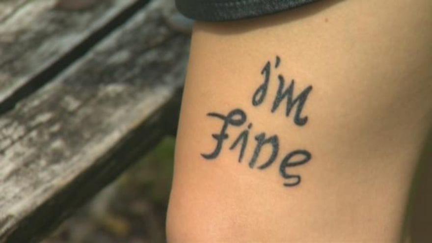 Bekah Miles' tattoo