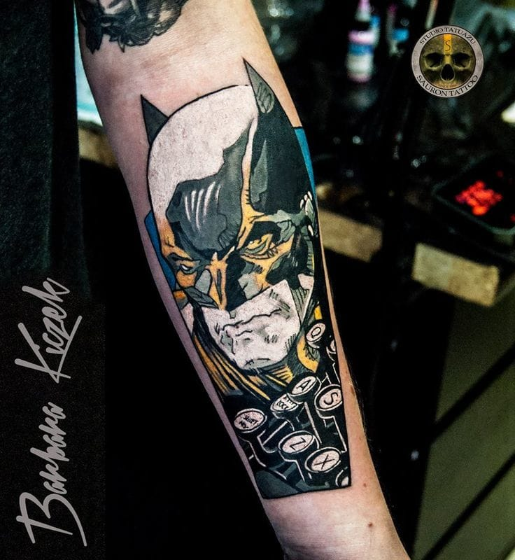 Graphical tattoo by Barbara Kiczek