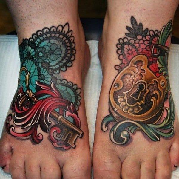 10 Lovely Lock & Key Tattoos