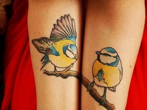 """""""Useless is each without the other."""" -What my father always tells me about marriage. Love these pretty matching tattoos! Artist unknown. Please let us know if you do!"""