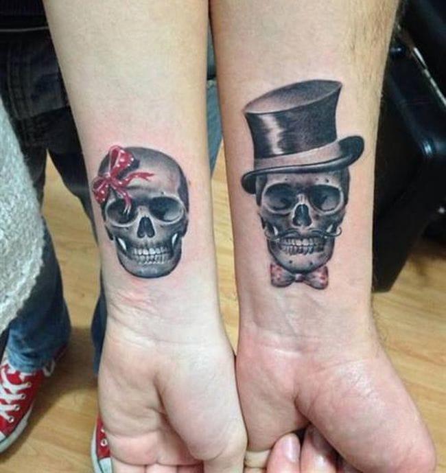 "Wedding Tattoo Ideas ""Til Death do us part"" <3"