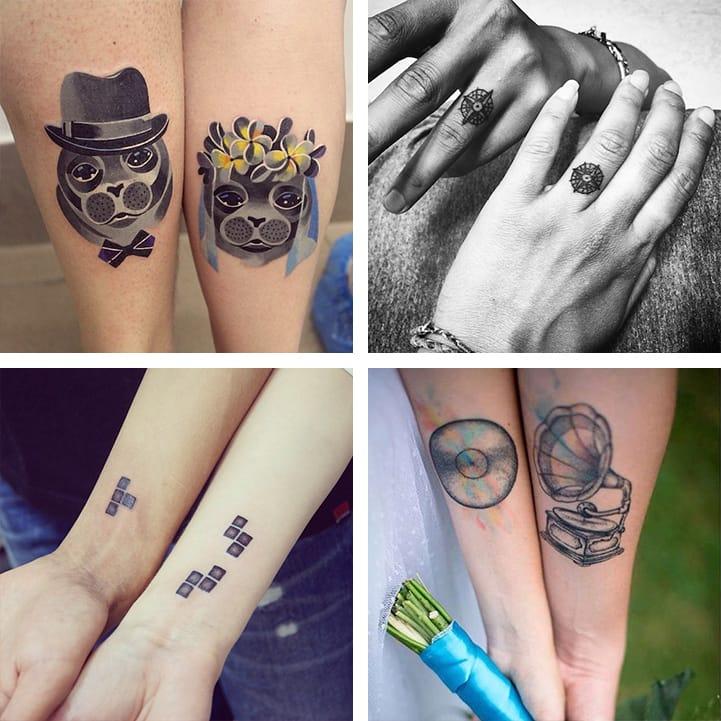 20 Lasting Wedding Tattoo Ideas For Couples Tattoodo
