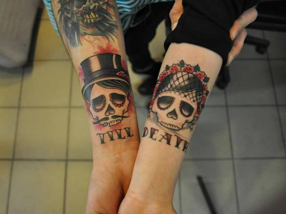 Til Death Do Us Part Tattoo. A great wedding tattoo idea for couples!
