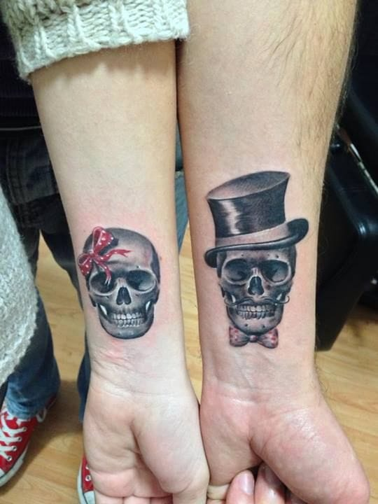 Skulls are classic tattoo images you can never go wrong with.