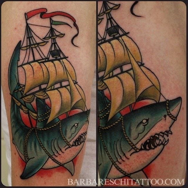 Tattoo Great White Shark - tattoo-art - photo#42