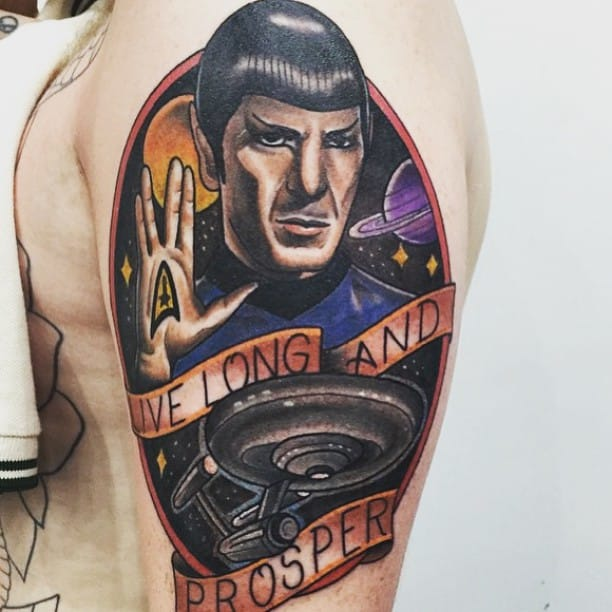 Spock Tattoo by Jamie Ahsan Cummins