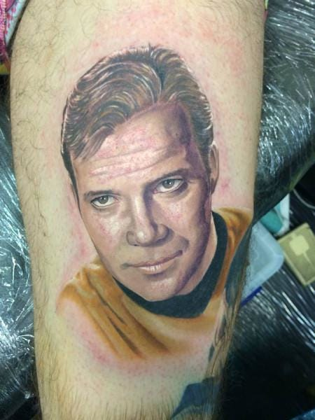 Captain Kirk Tattoo, artist unknown