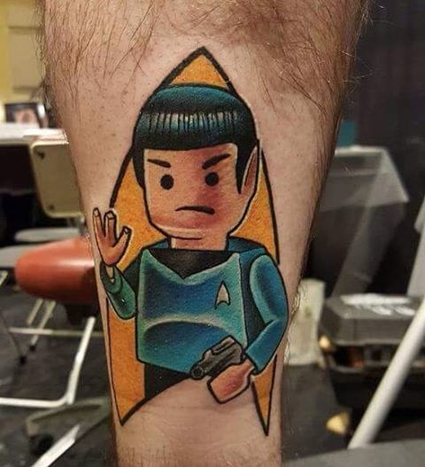 Lego Spok Tattoo by Tivis Phillips