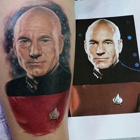 Picard Tattoo by Melissa Valiquette