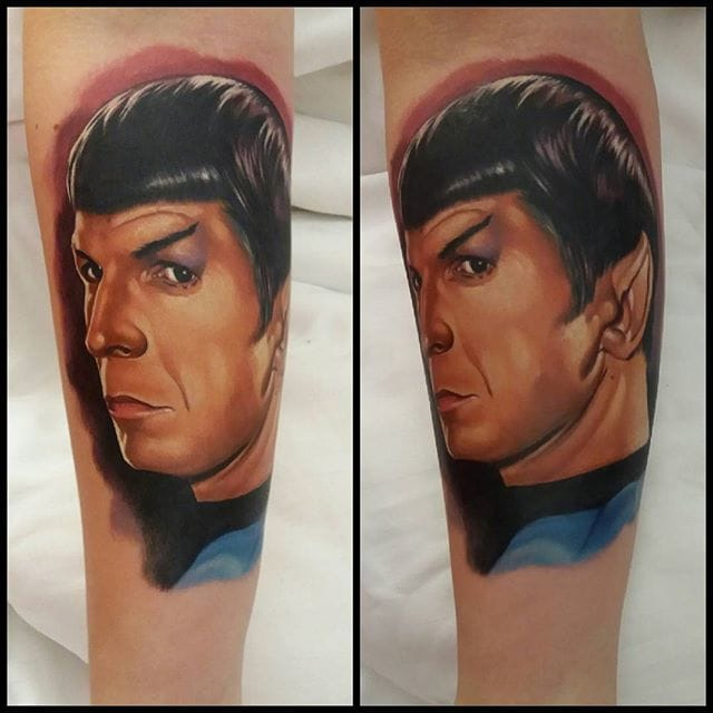 Spock Tattoo by Audie Fulfer jr.