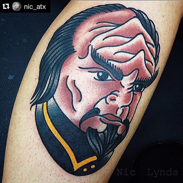 Worf Tattoo by Nic Lynds