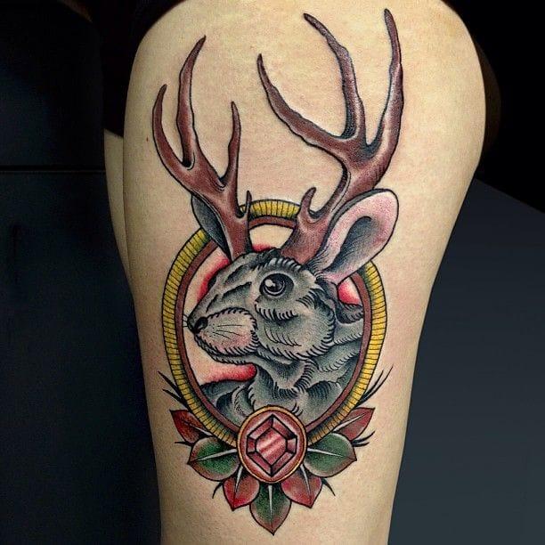 12 Fabled Jackalope Tattoos