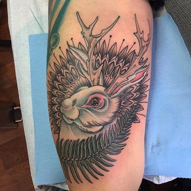 Jackalope Tattoo by Paul Zenk