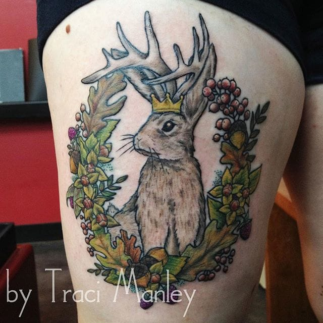 Jackalope Tattoo by Traci Manley