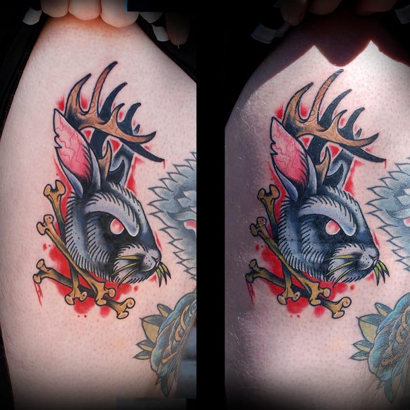 Jackalope Tattoo, unknown artist