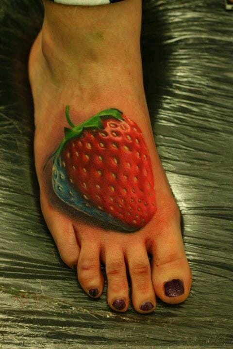 A huge, plump strawberry that you can never eat.